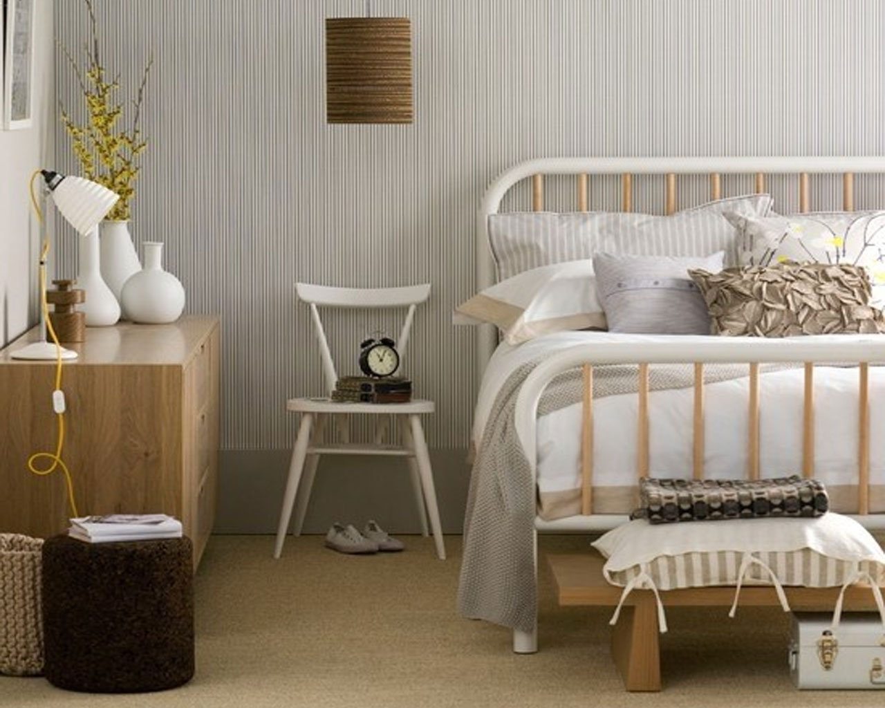 Scandinavisch wonen wit rust natuurlijk industrieel mia domo - Beautiful modern scandinavian bedroom designs ...